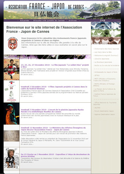 Site internet Association France - Japon de Cannes